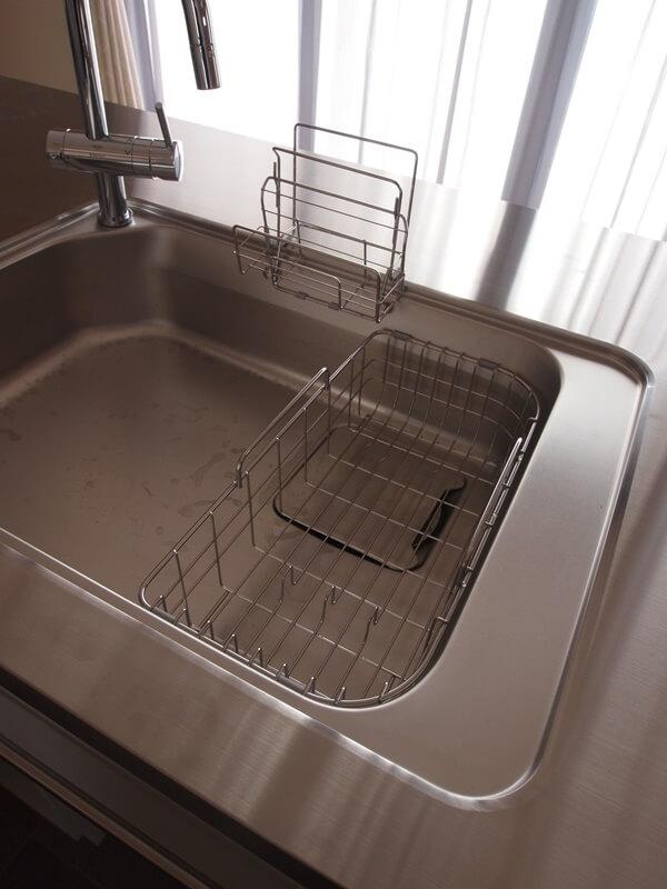 洗い物かごは片付ける定位置もあり
