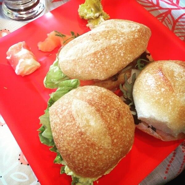 ビストロヒマワリさんのサンドイッチランチ