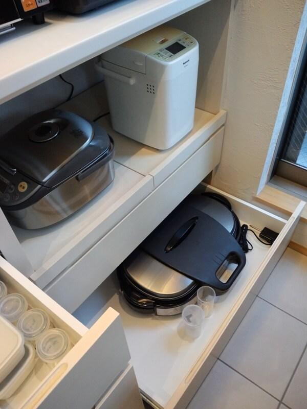 炊飯器、ホットプレートの定位置