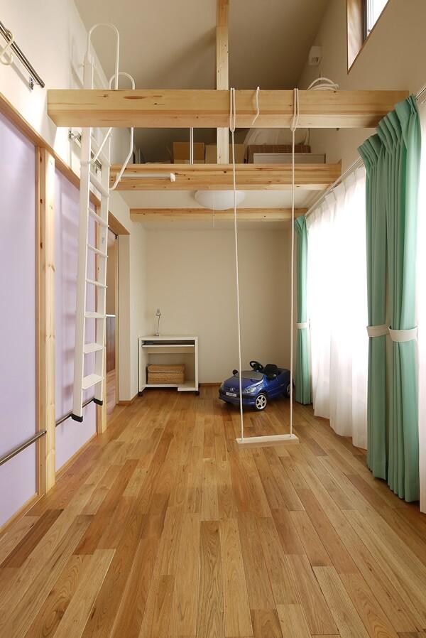 将来的に2室に分けられる子ども部屋