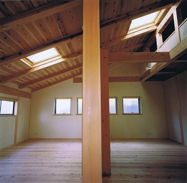 間仕切りを外せば広い空間として使える子ども部屋