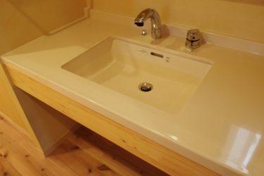 下部をオープンにした洗面台