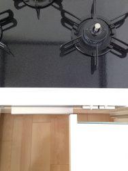 キッチン背面収納の引き出しの位置もジャストフィット