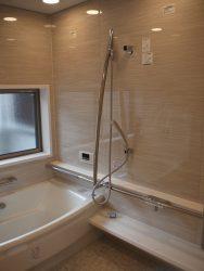 ゆったりと入れる浴室、これがご主人の一番のこだわりでした