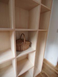 無印良品の箱がおさまるサイズのOPEN棚