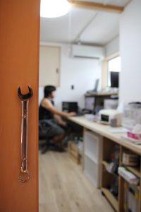 家の中心の仕事部屋