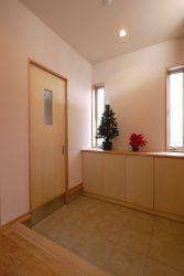 家族用玄関がある便利な玄関