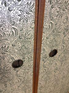 襖はリリカラのウイリアムモリスの壁紙を貼りました