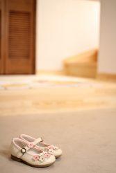 玄関にお子さんの靴