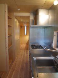 キッチンからパントリー、洗面所と連続しているので家事動線が短くなっています