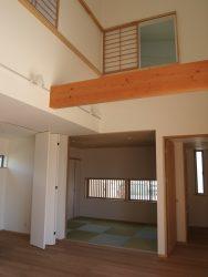 リビングと一体の空間として利用できる和室